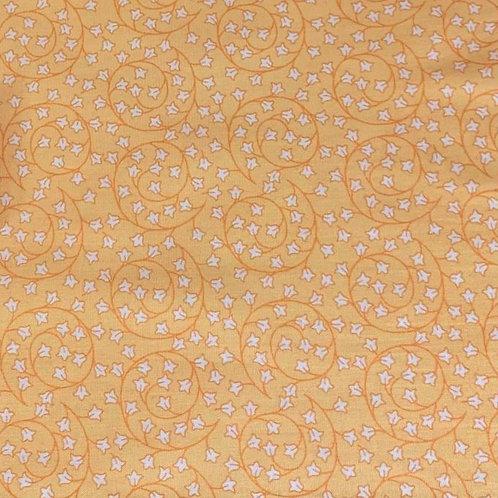 'New Delhi' fabric by Debbie Shore – Vines Leaves Yellow (price per half metre)