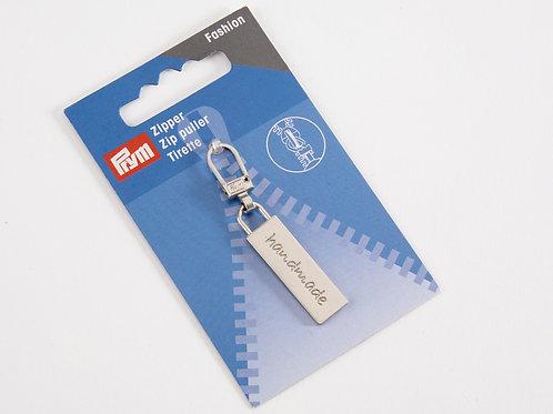 Prym Fashion Zip Puller - Rectangle 'Handmade'