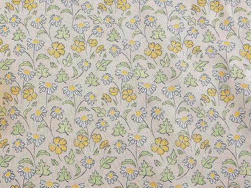 A Cottage Garden - Yellow Flowers (price per half metre)
