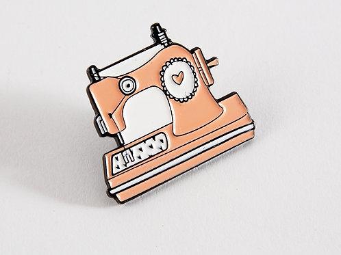 Enamel Pin - Pink Sewing Machine