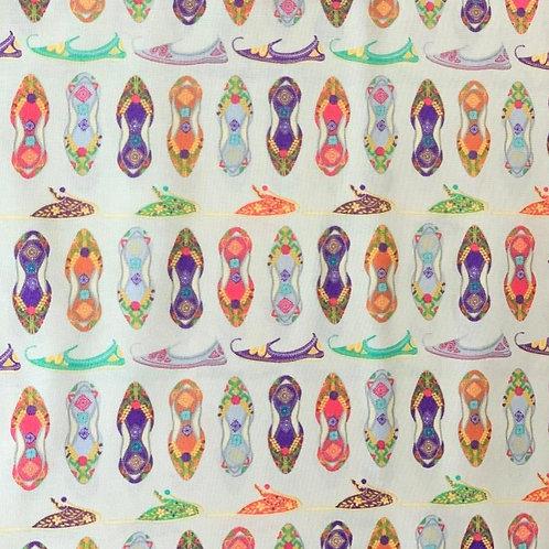 'New Delhi' fabric by Debbie Shore - Khussa Shoes