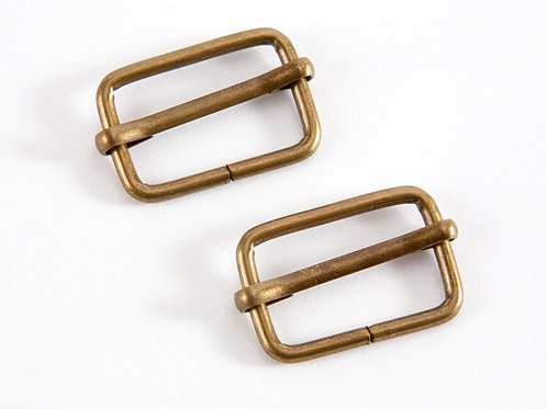 """1"""" Gold Tone Sliders for Bag Straps - Pack of 2"""
