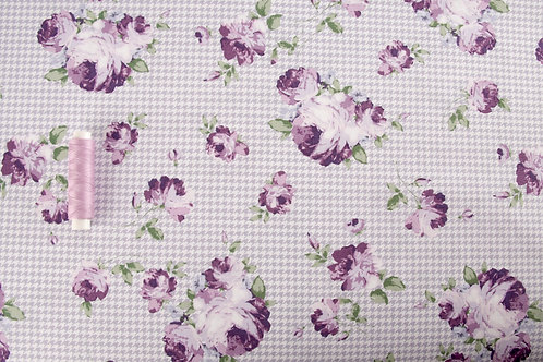 Gutermann Ring a Roses - Notting Hill Lilac Roses Fabric (price per 0.5m)