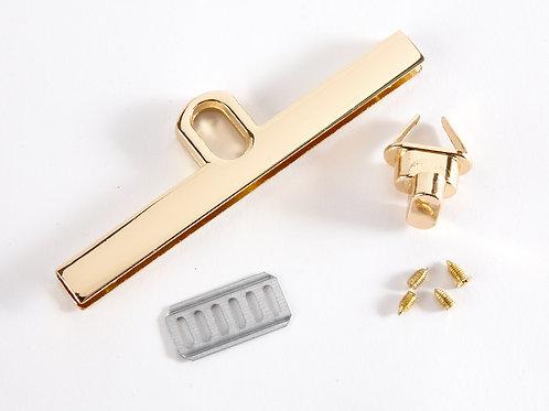 Twist Lock Bag Edge Clasp - Gold