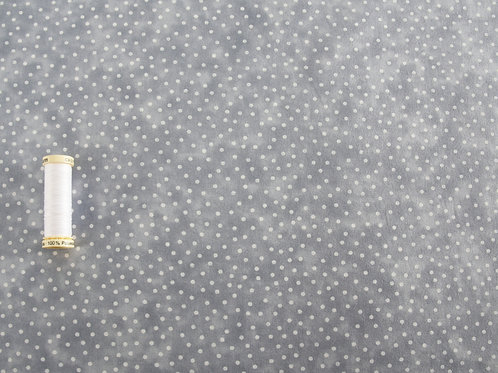 Grey Spot - Textured Blender Fabric (price per half metre)