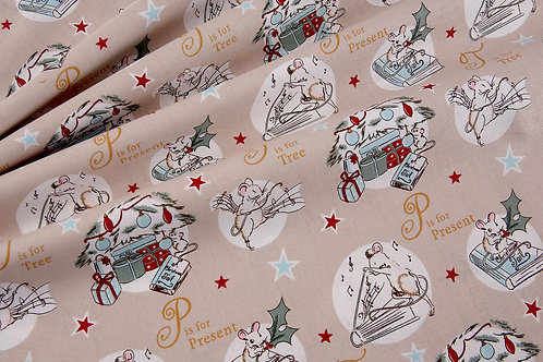 Debbie Shore A Christmas Tail - T is For (price per half metre)