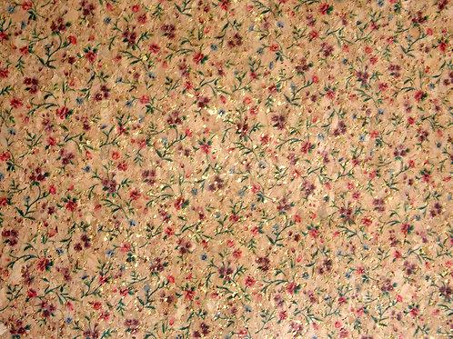 Floral Cork Fabric - Half Metre Piece