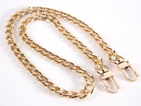 Bag Chain Stap (Flat Chain) - Bright Gold 60cm