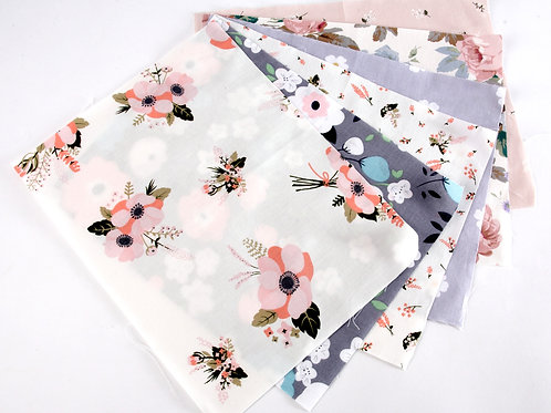 Pretty Pastels Fabric Pack - 6pcs