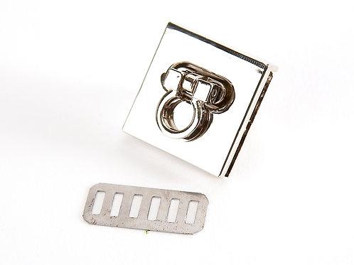 Metal Square Clasp Twist Lock - Handbag Hardware