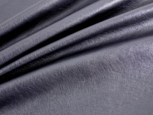Faux Leather - Metallic Look Pewter Grey/Black super soft (price per half metre)