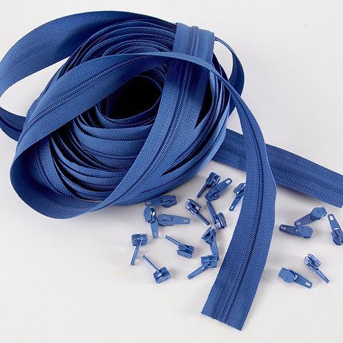 Continuous Zips 10m - Blue