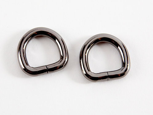 "1/2"" D rings - Gunmetal Grey Pack of 2"