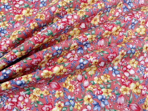 Flowers in Bloom - Pink (price per half metre)