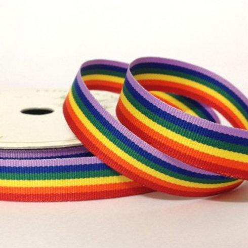 Rainbow Stripe Ribbon - 3m Roll