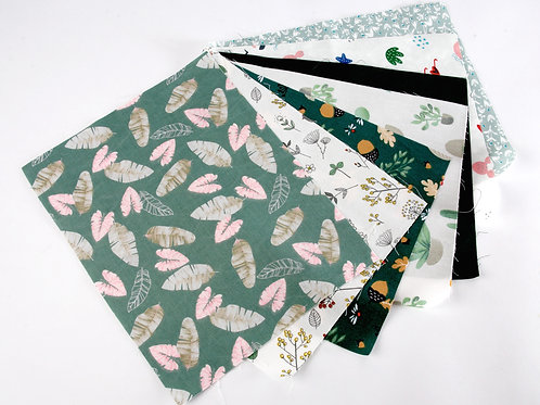 Forest Greens Fabric Pack - 7pcs