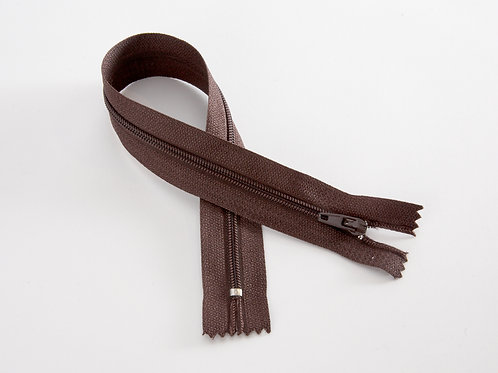 "12"" [30.5cm] Nylon Zip - dark brown"