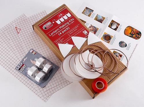 Lantern Making Kit - 4 Pack (Including LED Tea Lights)