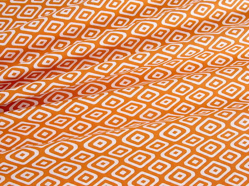 Botanical Jungle Geo Triangles - Orange (price per half metre)