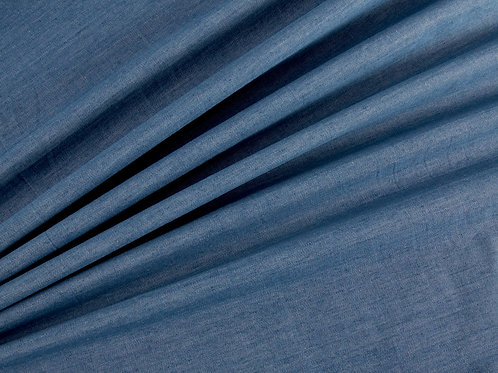 Lightweight Washed Denim - Medium Blue 4oz (price per half metre)