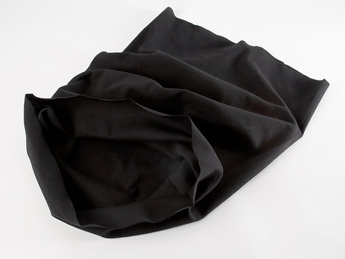 Tubular Jersey Ribbing Fabric - Black