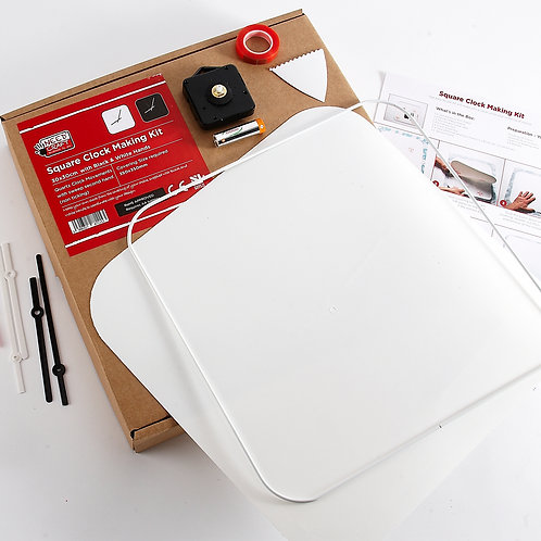 Square Clock Making Kit 30cm (battery included)