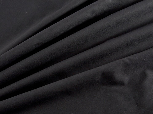 Plain Cotton Poplin - Black (price per half metre)