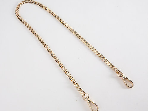 "23"" Metal Swivel Clasp Chain Handbag Straps - Gold"