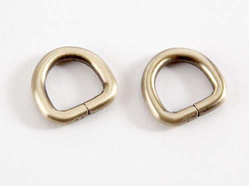 """1/2"""" D rings - Gold Pack of 2"""