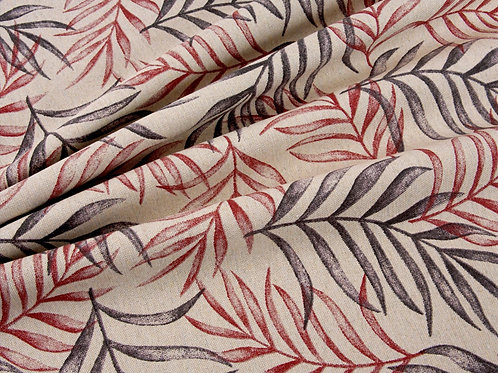 Leaf Print Light Weight Canvas (price per half metre)