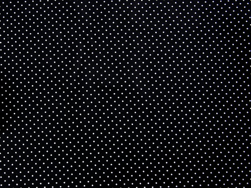 Black and White Pin Spot Cotton