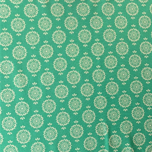 'New Delhi' fabric by Debbie Shore – Indian Stamp Jade