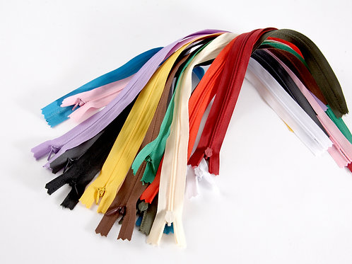 """Invisible Zip Collection - 15"""" (13 Colours)"""