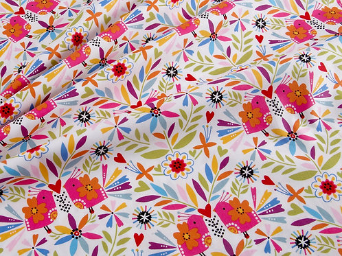 Fiesta - Birds by Dashwood Studio (price per half metre)