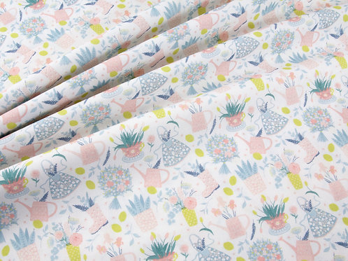 Pottering in the Garden - Pastel and Yellow (price per half metre)