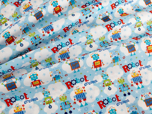 Robot Dreams - Blue (price per half metre)