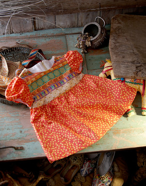 New Delhi fabric dress by Ann