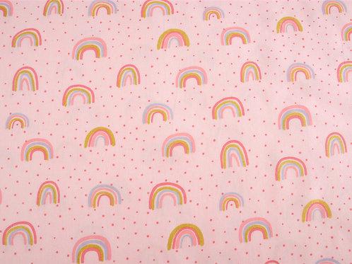 Pale Pink Glitter Rainbow Cotton