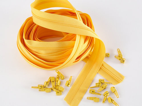 Continuous Zips 10m - Yellow