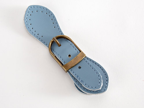 Leather Buckle Magnetic Snap - pale blue