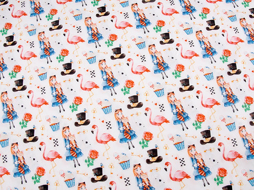 Wonderland Flamingo Cotton