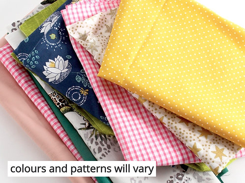 Mixed Fabric Bags 400g - Mixed Colours