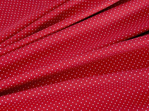 Deep Red Pin Spot Cotton