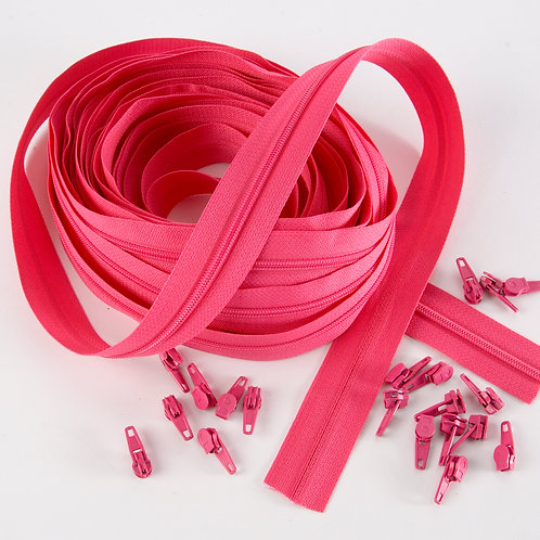 Continuous Zips 10m - Pink