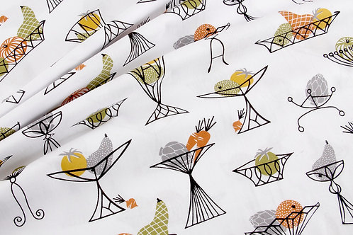 On the Chopping Block - Bowls Fabric by Michael Miller (price per half metre)