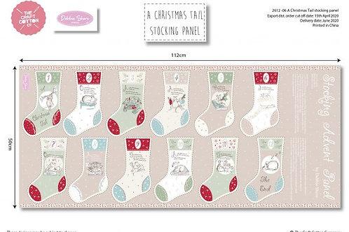 Debbie Shore 'A Christmas Tail' Stocking Panel