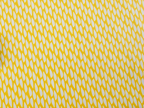 Fern Geo - Mustard Leaves Fabric (price per half metre)