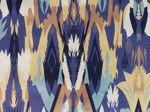 Abstract Blue Cotton Jersey (price per half metre)