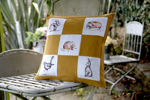 Hedgerow fabric cushion cover