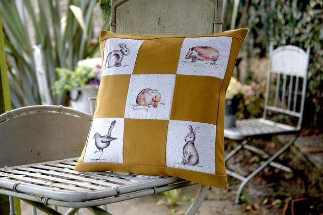 Hedgerow fabric cushion cover